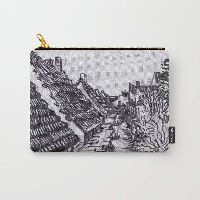 Street in Saintes-Maries by Vincent van Gogh Carry-All Pouch
