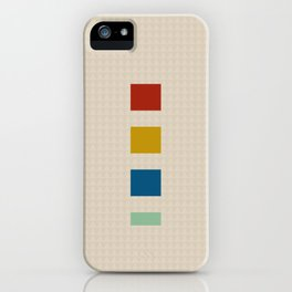 four elements || tweed & primary colors iPhone Case