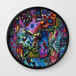 """Blue Candy Gloom"" Wall Clock"