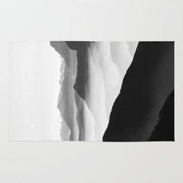 Creamy Mountains | Black & White Rug
