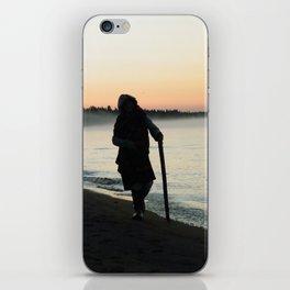 Sunrise Shadow by the lake iPhone Skin