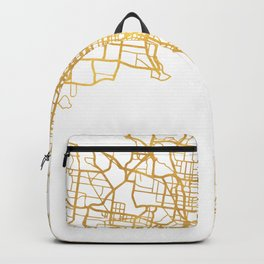 MELBOURNE AUSTRALIA CITY STREET MAP ART Backpack