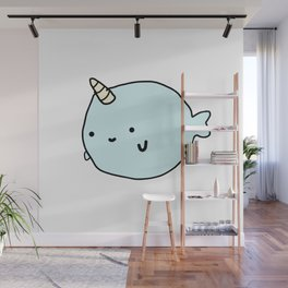 Fun and Cute Narwhal Wall Mural