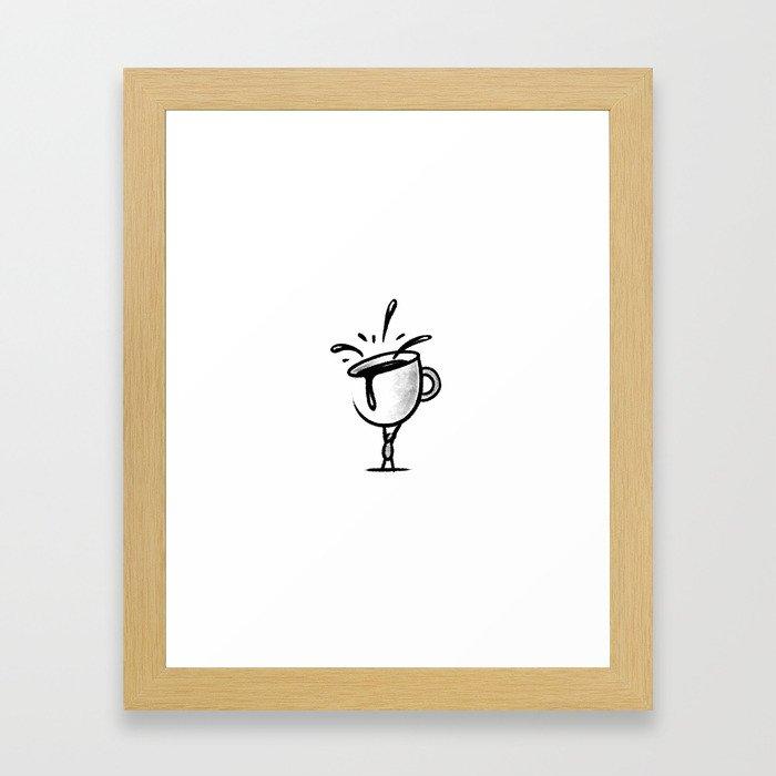 BIG CUP OF COFFEE Framed Art Print
