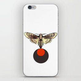 Death head black moon red circle iPhone Skin