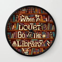 Go to the library Wall Clock