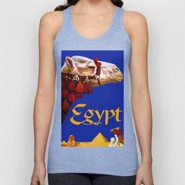 Vintage Egypt Camel Travel Unisex Tank Top