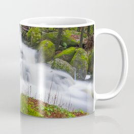 Lovely green forest and wild river Coffee Mug