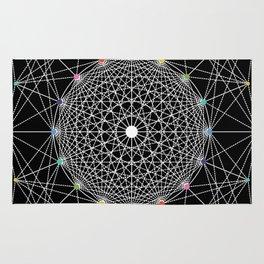 Geometric Circle Black/White/Colour Rug