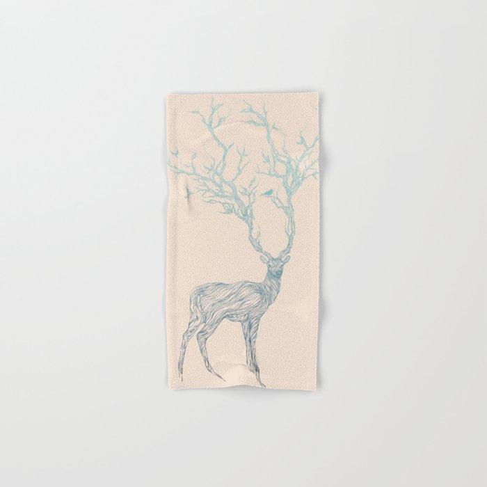 Blue Deer Hand & Bath Towel