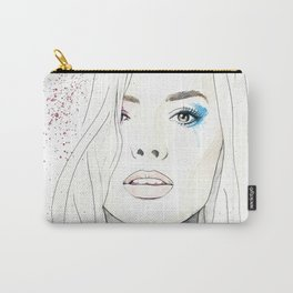 Margot Robbie Harley Quinn watercolor Carry-All Pouch
