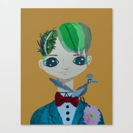 ~ Cactus Hair Jude & Roadrunner ~ 10 year old Artist Amelia Milly Moo Canvas Print