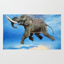 Rajan The Swimming Elephant Rug