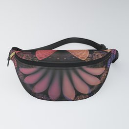 Pastel & Paisley Plume of Rainbow Fractal Feathers Fanny Pack