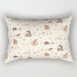 Meadow and Fawn Rectangular Pillow
