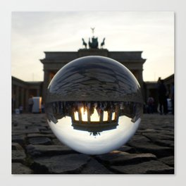 Brandenburg Gate, Berlin Germany / Glass Ball Photography Canvas Print