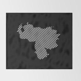 Venezuelan striped map - white Throw Blanket