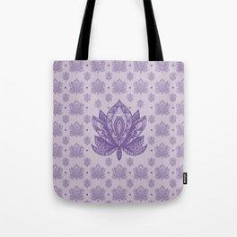 Gentle Pastel Purple  Lotus Flower Tote Bag