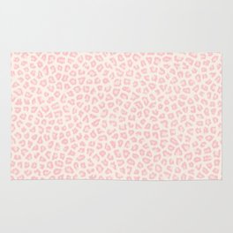 Modern ivory blush pink girly cheetah animal print pattern Rug