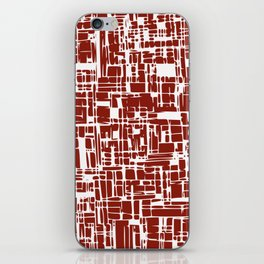 Crimson red abstract iPhone Skin