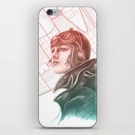 Amelia Earhart Courageous Adventurer iPhone Skin