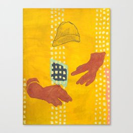 Salami Hand Man Canvas Print