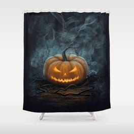 Halloween Pumpkin Shower Curtain