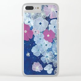 Celestial Blooms Clear iPhone Case