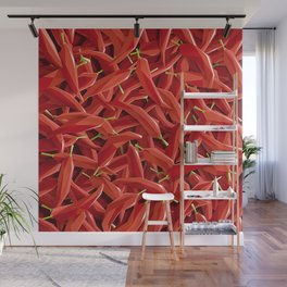 Too many Chillies Wall Mural