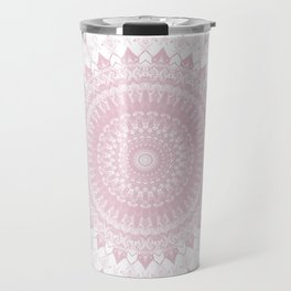 Boho Pink Mandala Travel Mug