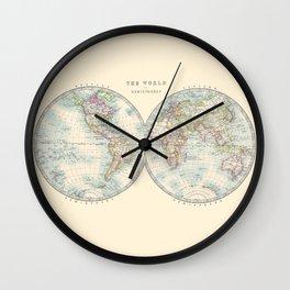 Hemispheres Wall Clock