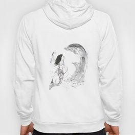 Mermaid in Black Ink Hoody