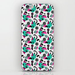 Cha Ching - abstract throwback memphis retro 80s 90s pop art grid shapes iPhone Skin