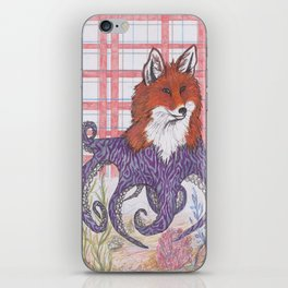 Foxtapus (purple) iPhone Skin