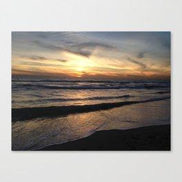 Huntington Beach Sunset Canvas Print