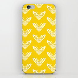Butterfly Pattern Yellow iPhone Skin