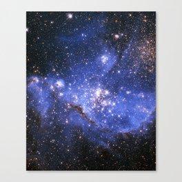 Blue Embrionic Stars Canvas Print