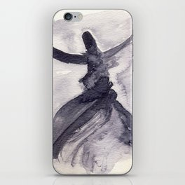 whirling dervish - sufi meditation - ink wash iPhone Skin