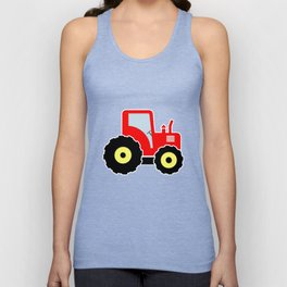 Red toy tractor Unisex Tank Top