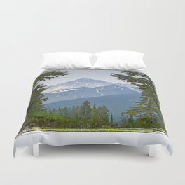MOUNT LARRABEE FROM HEATHER MEADOWS Duvet Cover