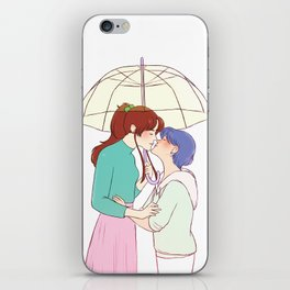 Umbrella Smooches iPhone Skin