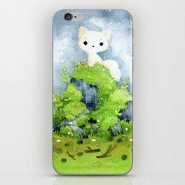 White fox iPhone Skin
