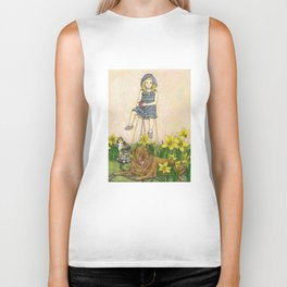 Girl with Daffodils: Don't Forget Me.  Biker Tank