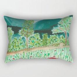 poppy-coquelicot Rectangular Pillow
