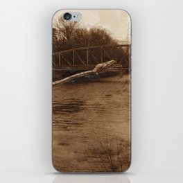 Elasmosaurus Dinosaur Attacking Bridge iPhone Skin