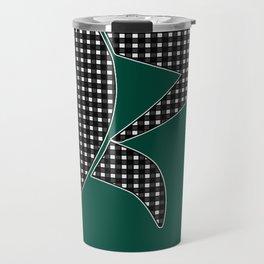Gingham Pattern Travel Mug