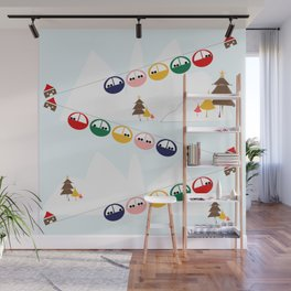 Ski cables Wall Mural