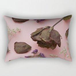Flourish pattern in pink Rectangular Pillow