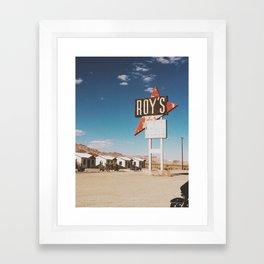 Roy's Motel Framed Art Print