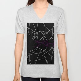 Abstract Threads – Demisexual Pride Flag Unisex V-Neck